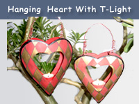 Hanging Heart with T-Lights