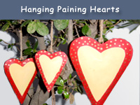 Hanging Paining Hearts