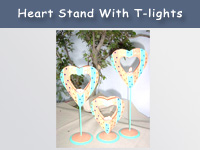 Heart Stand with T-light